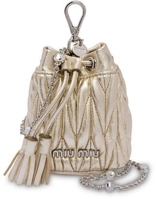 Miu Miu Matelasse Mini Shoulder Bag