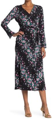 Diane von Furstenberg Tilly Silk Floral Wrap Midi Dress