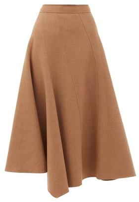 J.W.Anderson Asymmetric Wool-blend Twill Midi Skirt - Beige