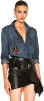 Saint Laurent Denim Shirt with Patch