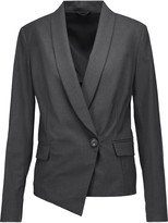 Brunello Cucinelli Asymmetric wool-blend blazer