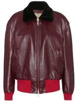 Calvin Klein Leather bomber jacket