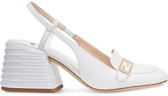Fendi Promenade crocodile-effect slingback loafers