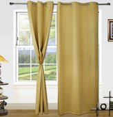 Dekor World Blackout Eyelet Curtain Set (Pack of 2)-7 Feet Long Curtains-Curtains for Window