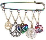 Betsey Johnson Harlem Shuffle Charm Pin