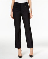 JM Collection Petite Straight-Leg Ankle Pants, Only at Macy's