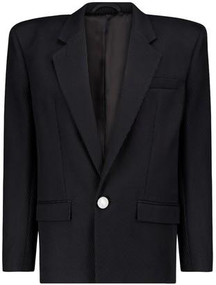 ATTICO Ribbed cotton-twill blazer