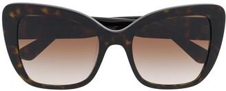 Dolce & Gabbana Eyewear Tortoiseshell Oversized Sunglasses
