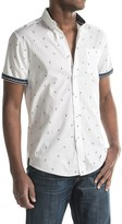 Report Collection Soaring Bird Print Sport Shirt - Short Sleeve (For Men)