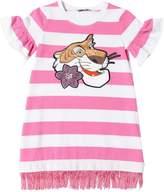 MonnaLisa Cotton Jersey Dress With Fringed Hem