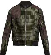 Wooyoungmi Striped satin bomber jacket