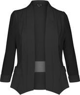 City Chic Black Drapey Blazer Jacket