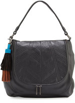 French Connection Gabby Faux-Leather Hobo Bag, Black