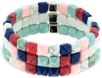 Isabel Marant Set Of 3 Bossa Beaded Bracelets