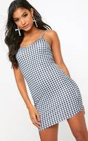 PrettyLittleThing Black Gingham Strappy Bodycon Dress
