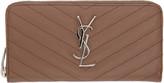 Saint Laurent Brown Quilted Monogram Wallet