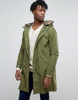 Pretty Green Winchester Parka In Oversized Fit Green
