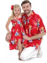 Hawaii Hangover Matching Father Daughter Hawaiian Luau Cruise Outfit Shirt Dress Men 2XL Girl 14