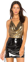 h:ours x REVOLVE Beca Cowl Cami in Metallic Gold. - size M (also in S,XS)