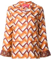 For Restless Sleepers chevron pajama-style shirt