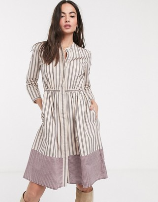 French Connection skater dress in pink stripe