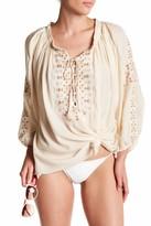 Melissa Odabash Avalon Lace Up Shirt