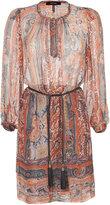 Isabel Marant Burnt Henna Printed Silk Sofia Dress