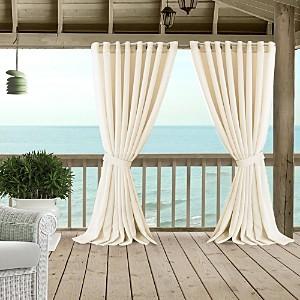 Elrene Home Fashions Carmen Sheer Indoor/Outdoor Tieback Curtain Panel, 114 x 84