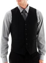 Jf J.Ferrar JF Stretch Gabardine Vest - Slim Fit- Black