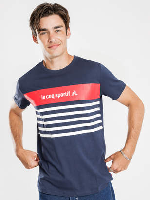 Le Coq Sportif Dion T-Shirt in Navy