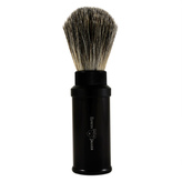 Jagger Edwin Black Aluminum Badger Travel Shave Brush