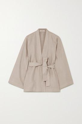 MATIN Belted Linen-canvas Jacket - Beige