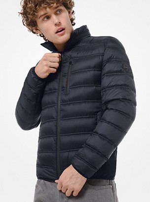 Michael Kors Hartford Quilted Nylon Packable Down Jacket