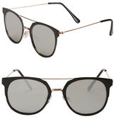 Steve Madden 51mm Round Sunglasses