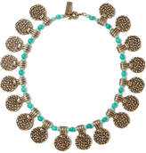 Etro Gold-tone Beaded Necklace - one size