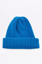 Urban Outfitters Sea Blue Ribbed Beanie