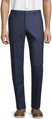 HUGO BOSS Flat-Front Wool Pants
