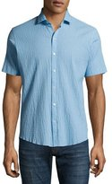 Zachary Prell Morales Seersucker Short-Sleeve Sport Shirt, Light Blue