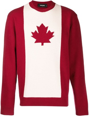 DSQUARED2 Canadian flag jumper