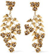Jennifer Behr Aveline Gold-plated Swarovski Crystal Earrings - one size