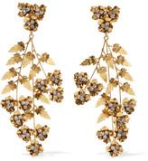 Jennifer Behr Aveline Gold-plated Swarovski Crystal Earrings - one size