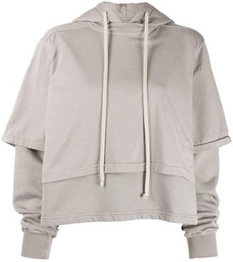 Rick Owens Layered Hooded Sweatshirt