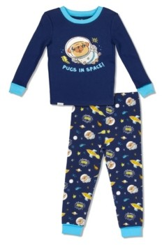 with me. Free 2 Dream Boys Toddler, Little and Big Pug in Space Print 2 Piece Cotton Pajama Set with Grow Cuffs