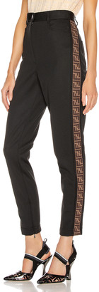 Fendi FF Tailored Pant in Black | FWRD