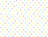 Graco SheetWorld Fitted Pack N Play Square Playard) Sheet - Pastel Colorful Polka Dots Woven - Made In USA - 36 inches x 36 inches ( 91.4 cm x 91.4 cm)