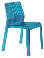 Kartell Ghost Stacking Side Chair (Set of 2 Color: Transparent Turquoise Blue