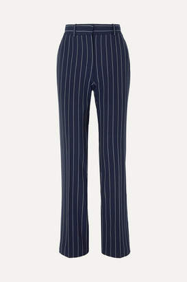 See by Chloe Pinstriped Woven Straight-leg Pants - Navy