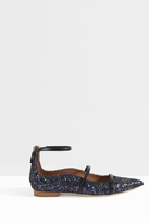 Malone Souliers Robyn Pointed Glitter Flats
