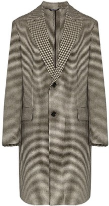 Dolce & Gabbana Houndstooth Single-Breasted Coat