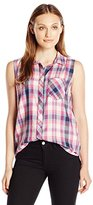 Calvin Klein Jeans Women's Sleeveless Button Down Shirt